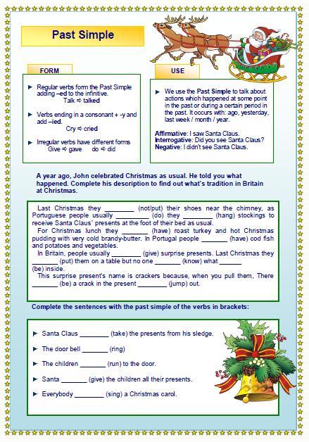 Last Christmas Past Simple Worksheet