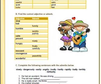 Adverbs Of Manner Elementary Worksheet