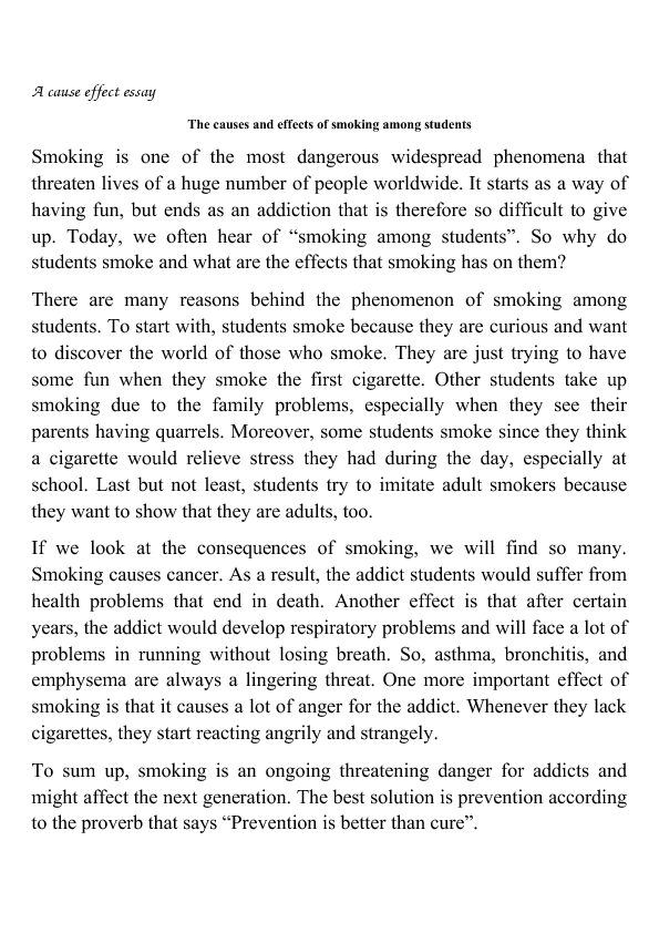 Thesis smoking bad