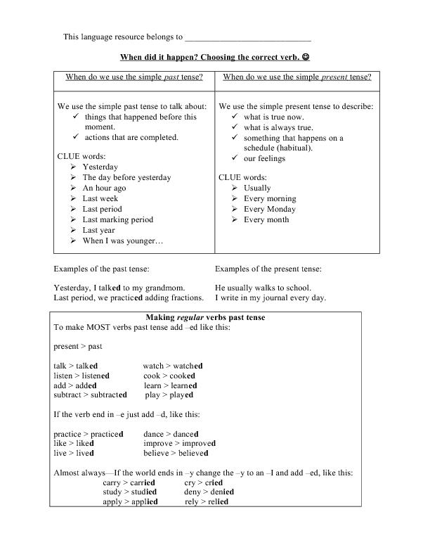 Verbs Irregular Regular Exercises And