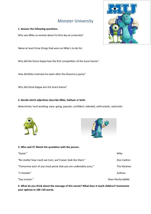 Skills Listening Worksheets