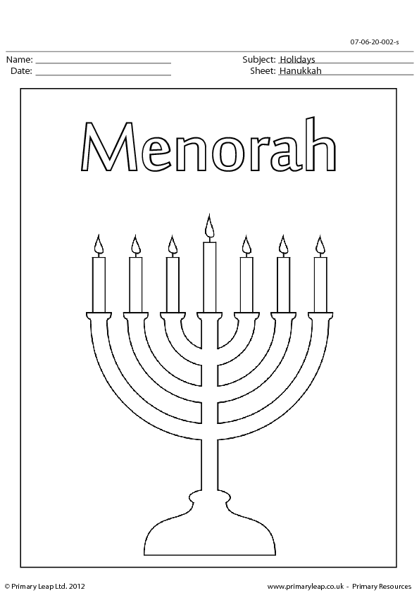 17 Free Hanukkah Worksheets
