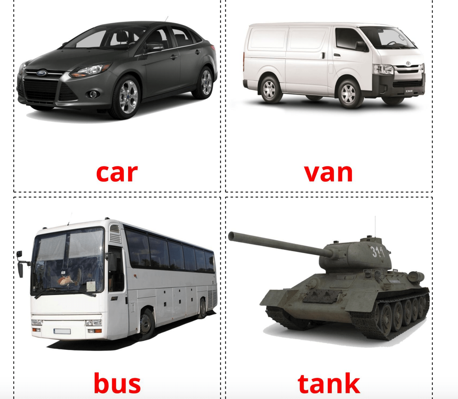28 Realistic Land Transport Flashcards