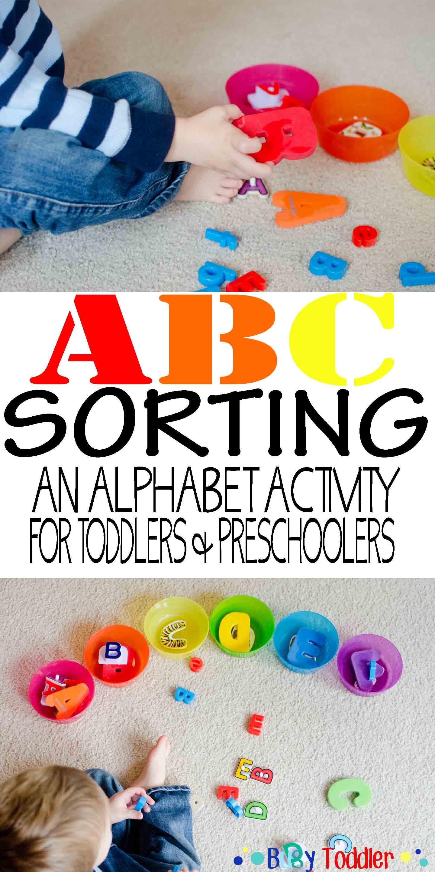 Abc Sort Toddler Literacy Activity