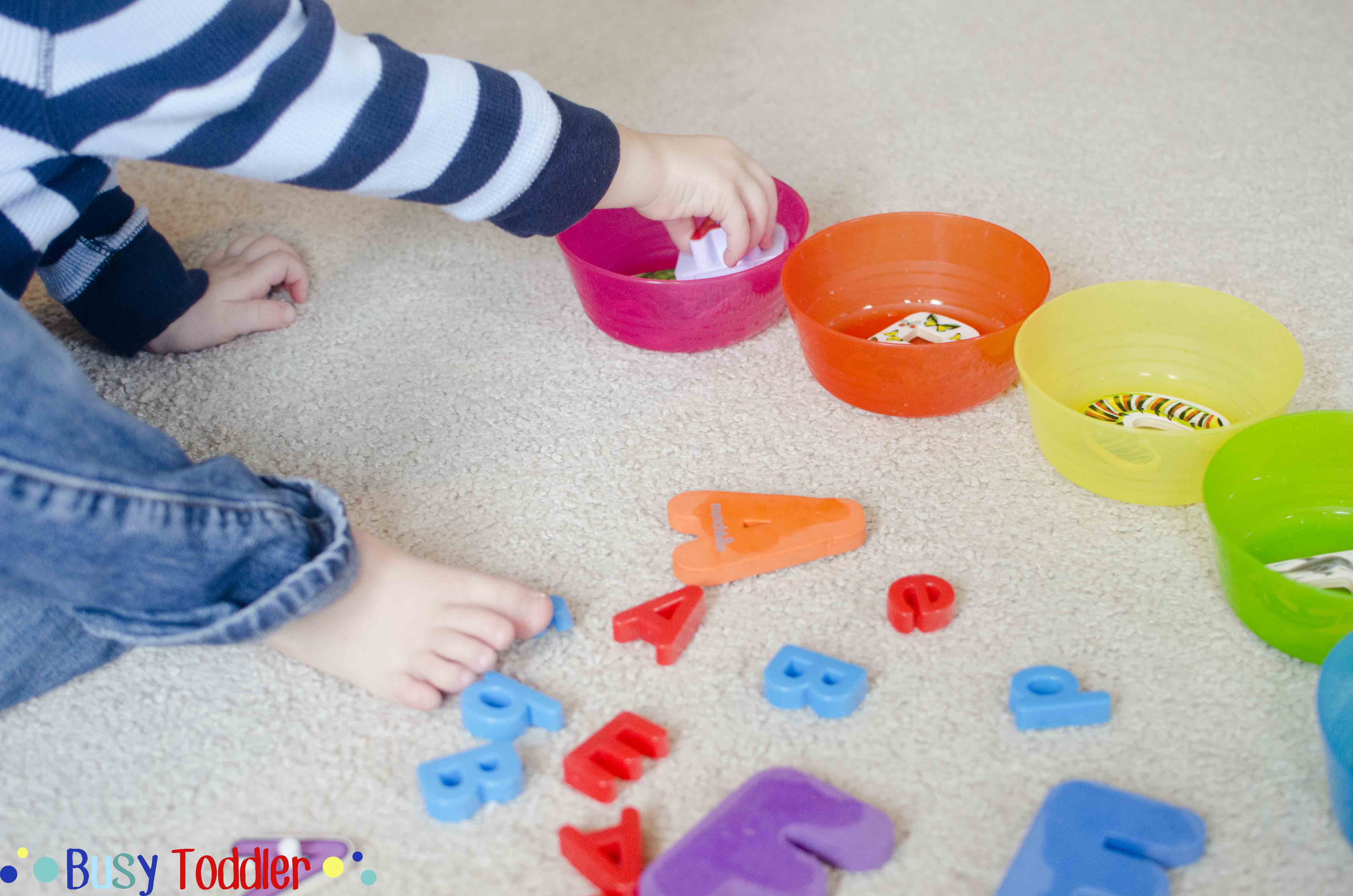 Abc Sort Toddler Literacy Activity