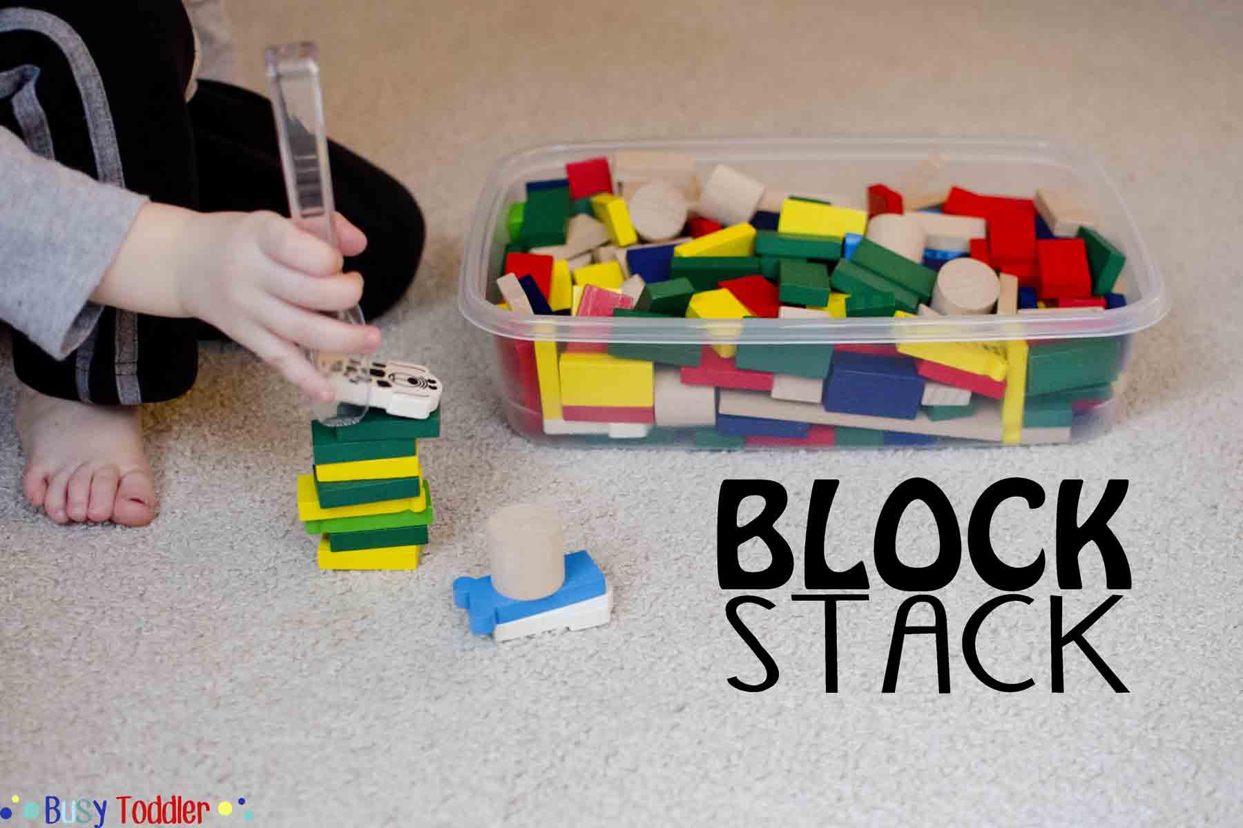 Block Stack Fine Motor Skills Activity