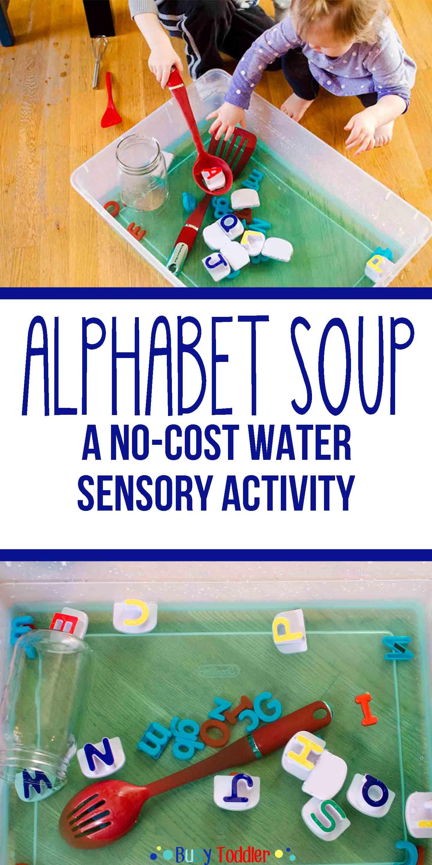 Alphabet Soup Sensory Water Activity