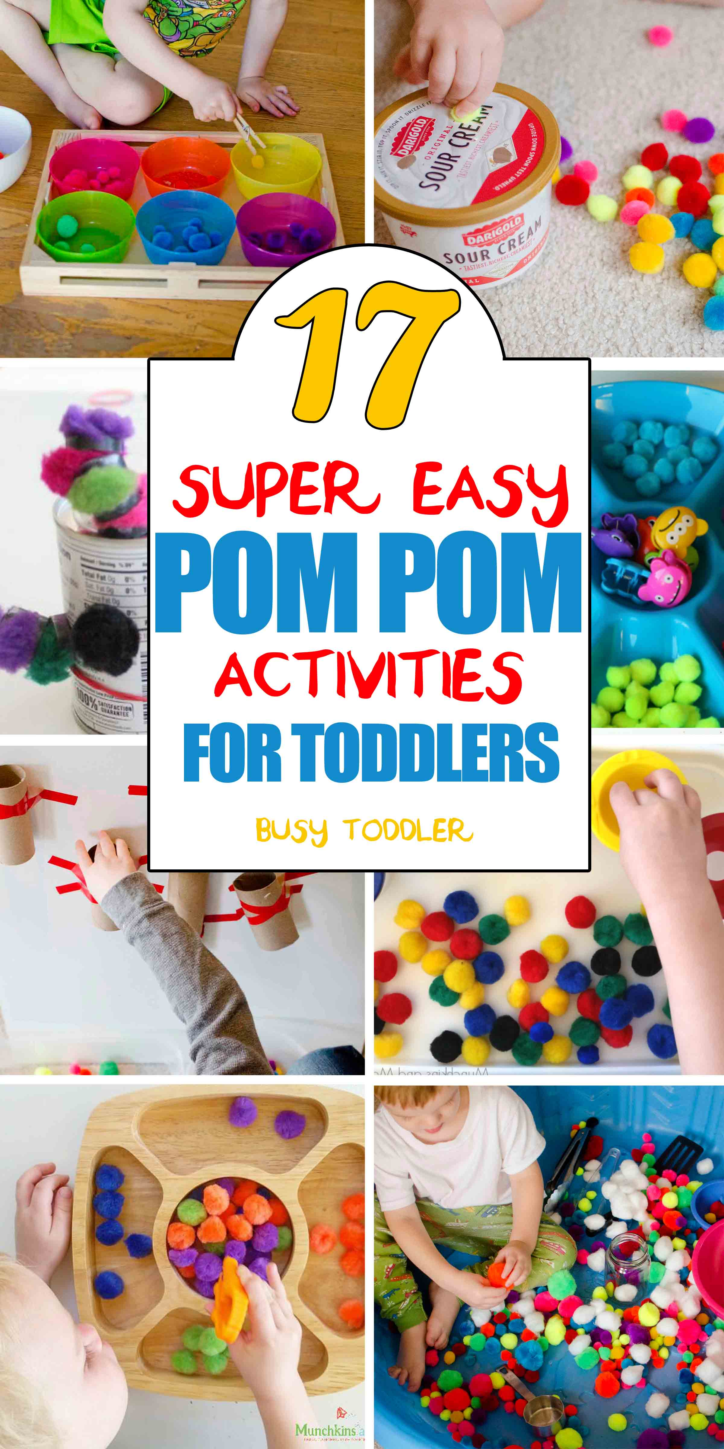 17 Pom Pom Activities For Toddlers