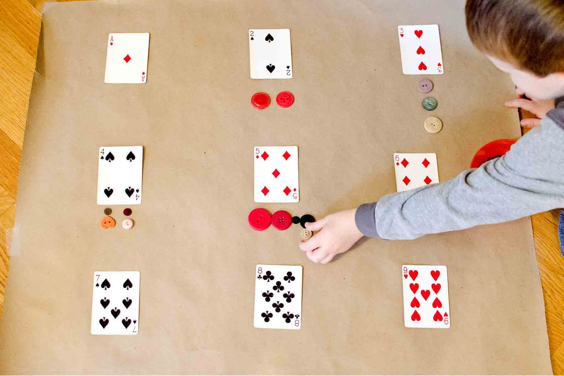 Playing Cards Math Activity