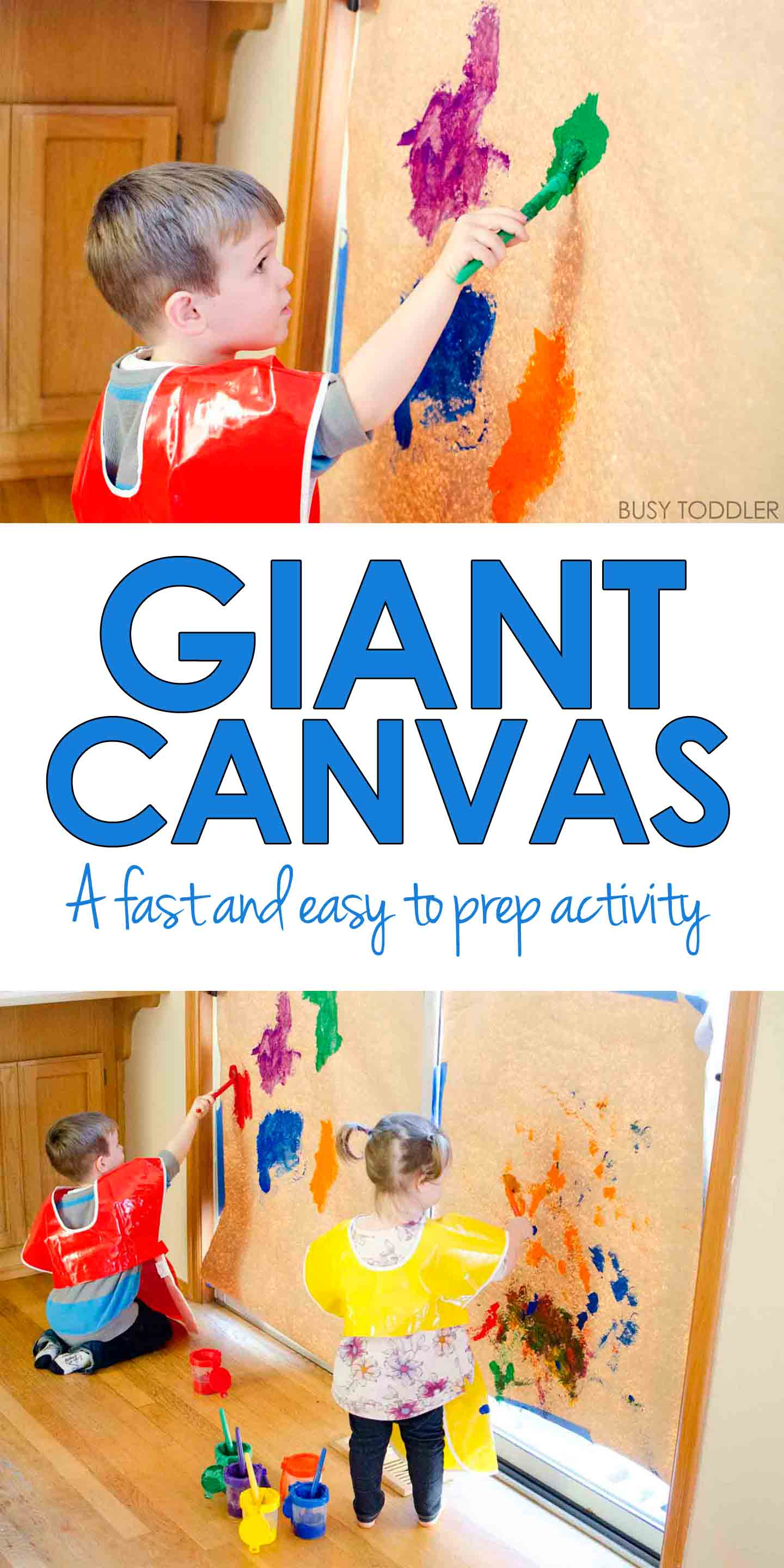 Giant Canvas Toddler Art