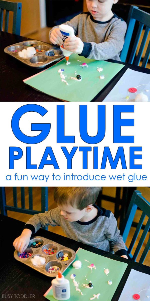 Glue Playtime Activity - Busy Toddler