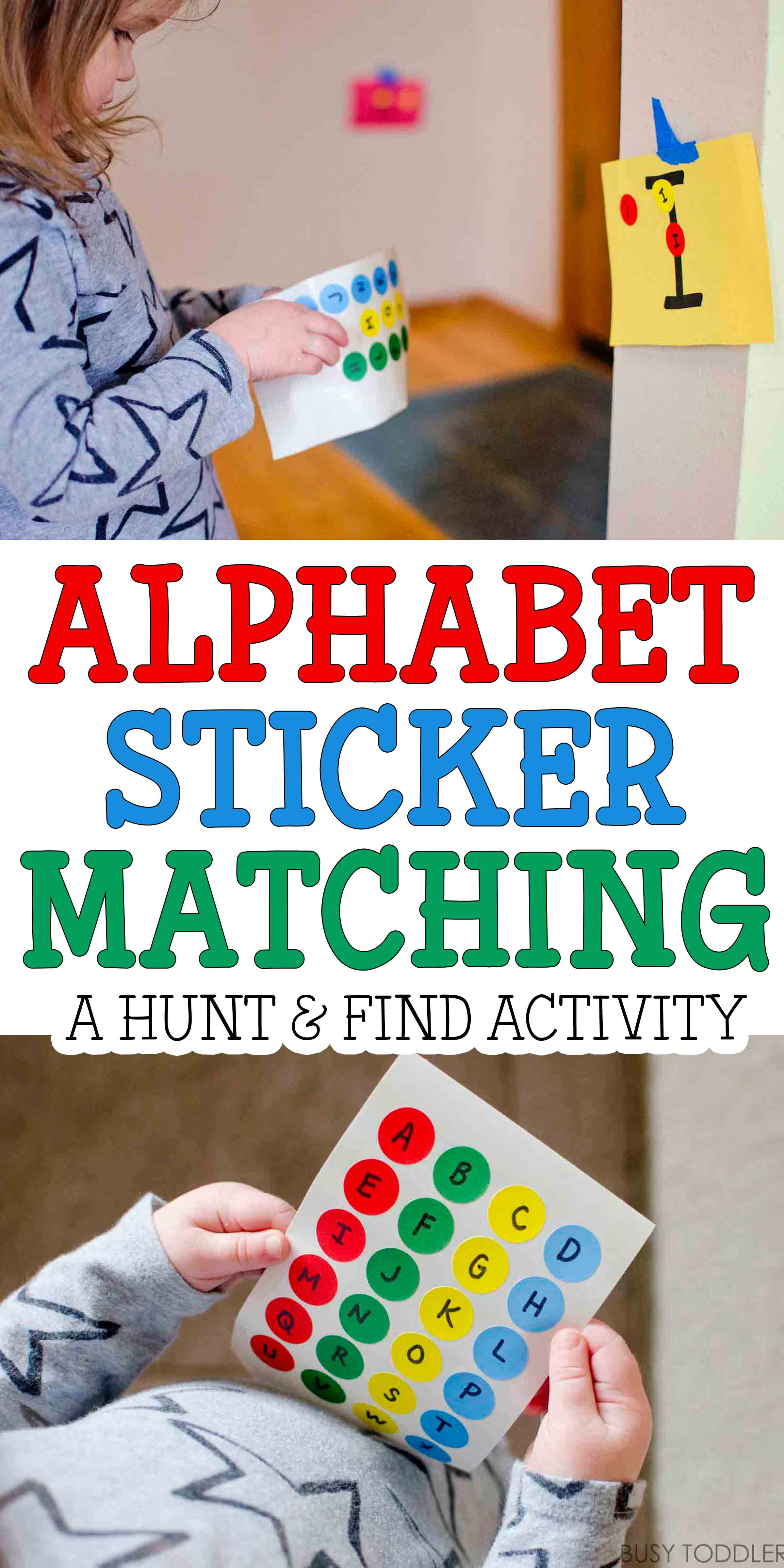 Alphabet Sticker Match