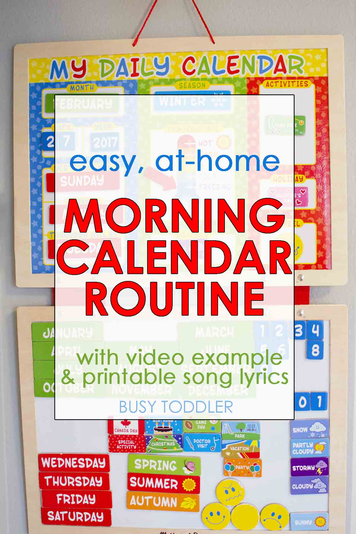 Easy Morning Calendar Routine