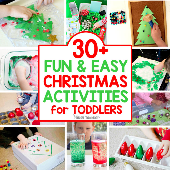30 Easy Toddler Christmas Activities
