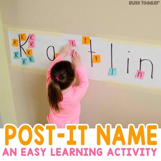 Post It Names Easy Alphabet Activity