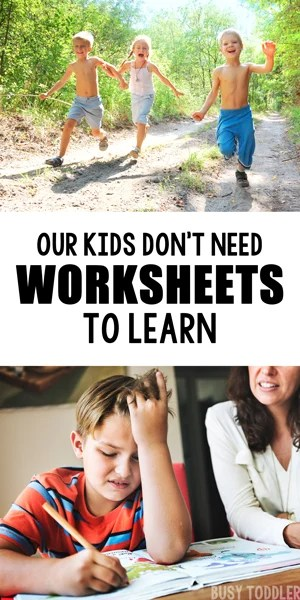 We Need to Stop Doing Worksheets with Kids   Busy Toddler STOP DOING WORKSHEETS WITH KIDS  Kids just don t need weeksheets and we need