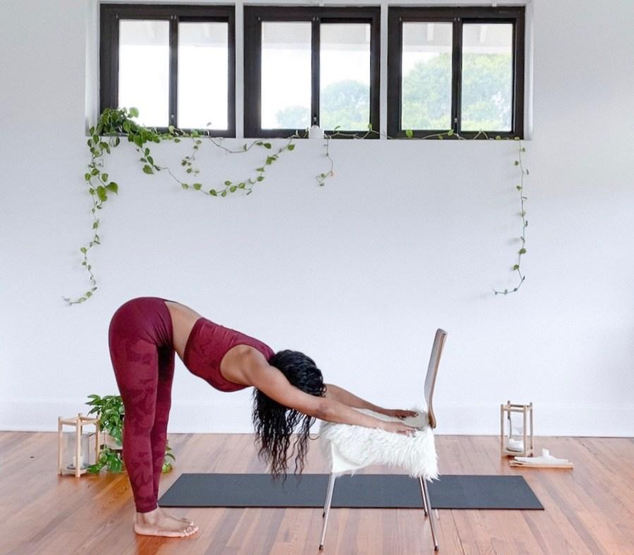 Yoga Tutorial 9 Chair Assisted Yoga Poses Busy Yoga Mom