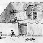 Illustration of boarding house