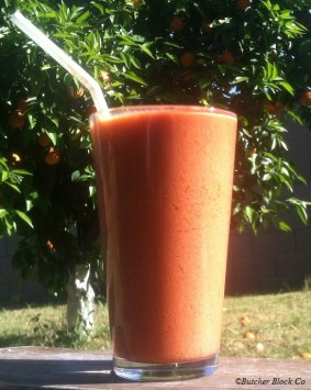 carrot smoothie for easter