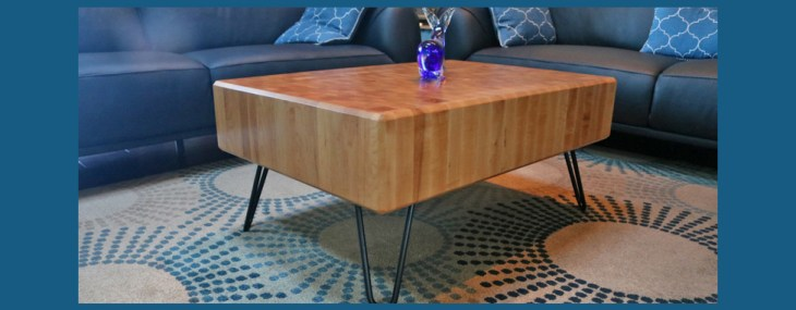 Coffee Table Design Takes Butcher Block Out Of The Kitchen