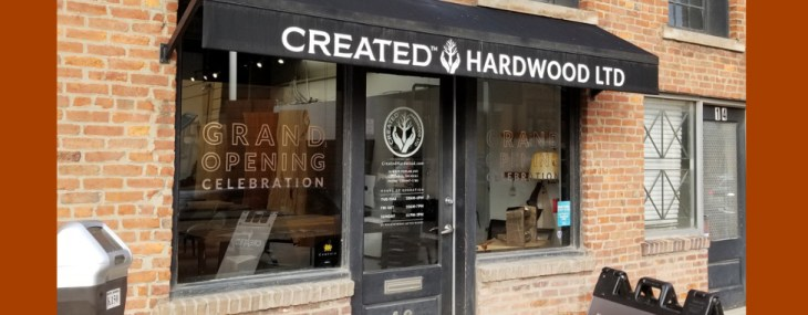 Created Hardwood's Showroom of Live-Edge Wood Slabs