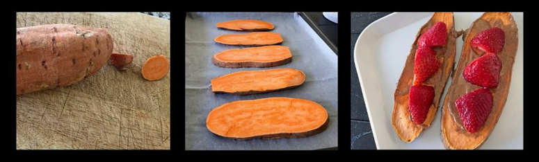 sweet potato toast prep