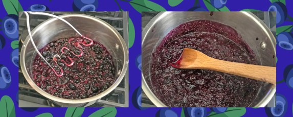 healthy blueberry jam prep