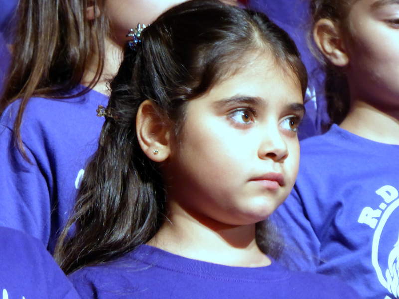 Students from RD White Elementary singing at commemoration of Armenian Genocide