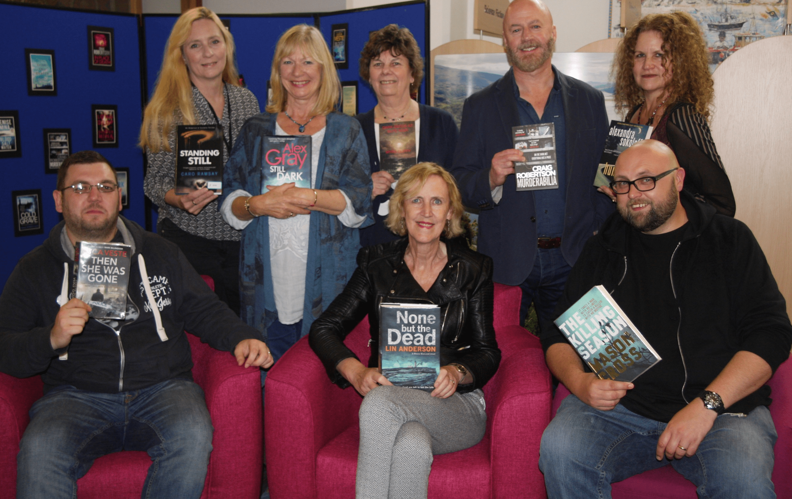The authors at Bute Noir 2017