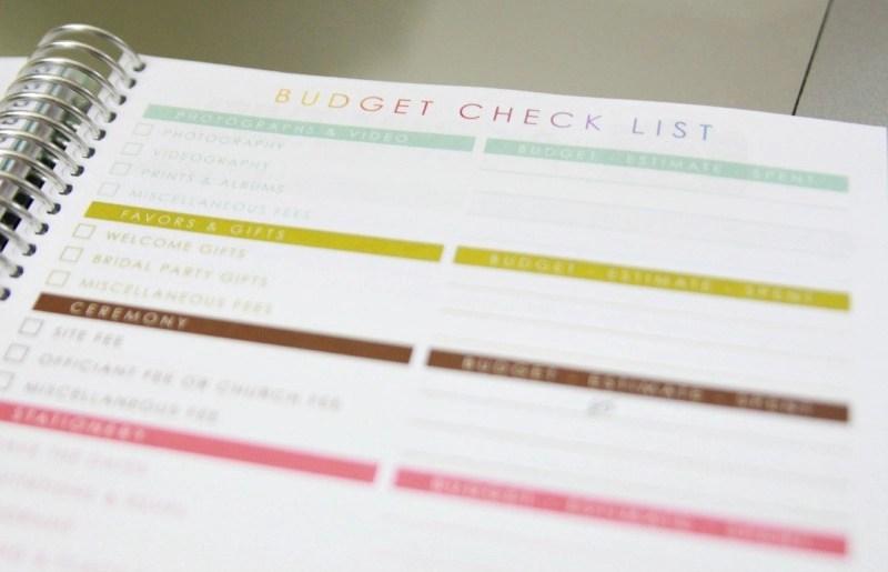 Erin Condren I Do List Budget Wedding Planner