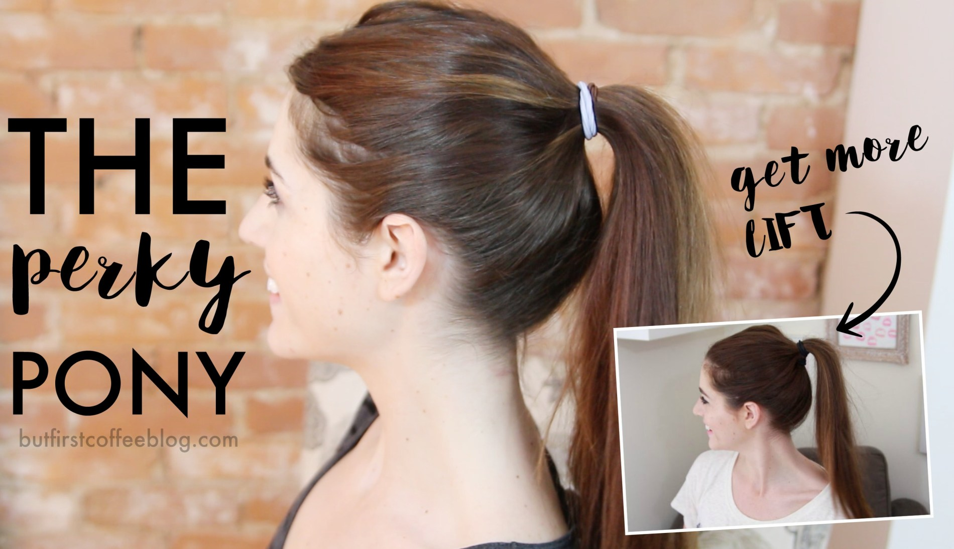 Different Ponytail Ideas - Perky Ponytail