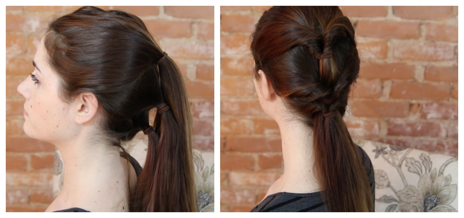 Different Ponytail Style -Twisted Ponytail