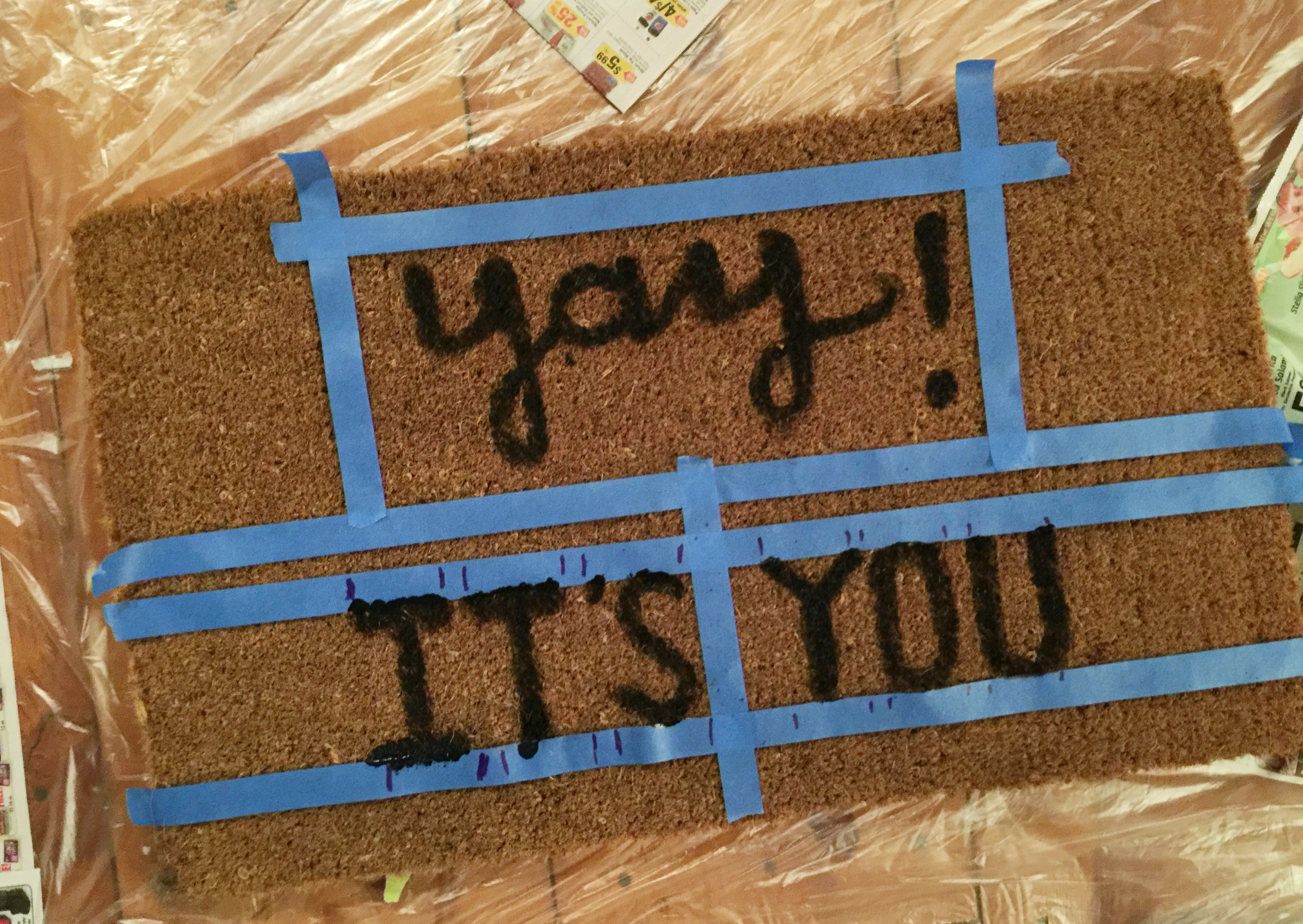 How to make a DIY doormat