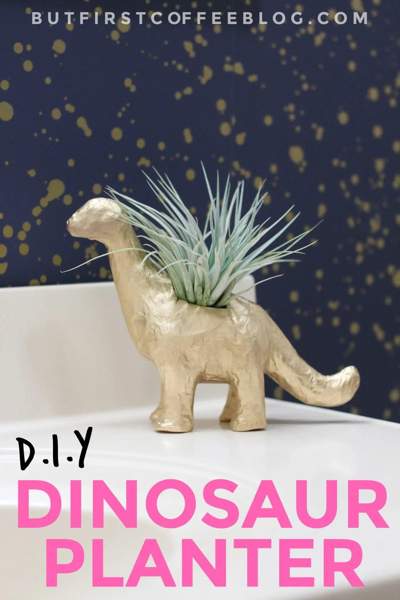 DIY Dinosaur Planter | How to Make an Animal Planter