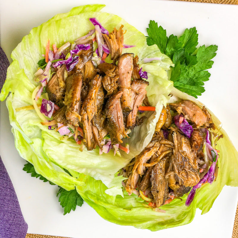 Keto Pulled Pork Lettuce Wraps