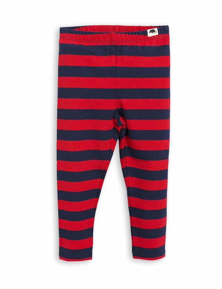 1773014642 1 mini rodini blockstripe leggings red