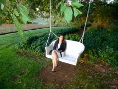 Romantic swing at Wine Country Farm