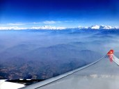 ::view from the airplane out of Kathamandu::
