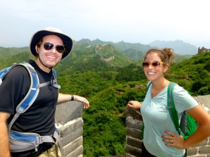 ::we made it to the Great Wall!::