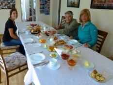 ::the beginnings of an amazing breakfast spread::