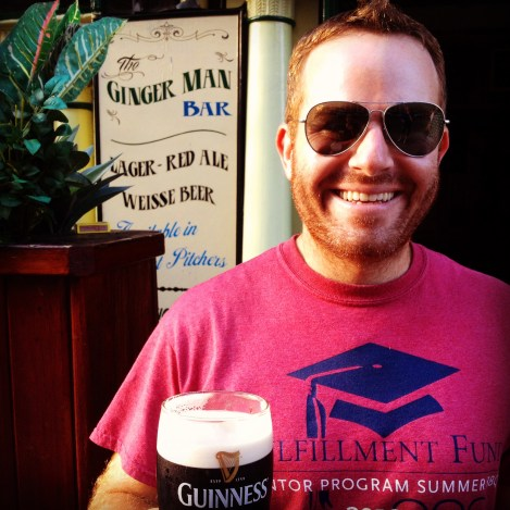 ::my ginger man at the ginger man. and our first pint of Guinness in Ireland!::