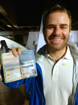 ::happy boy with his whisky passport::