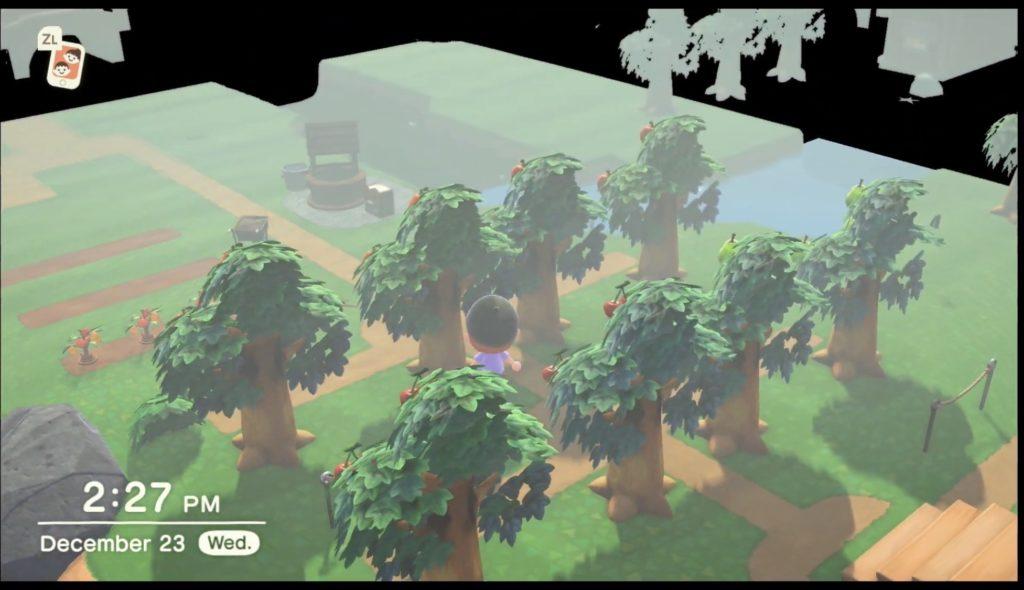 【あつ森】木の裏側を見てみた結果wwwこれはカメラ回転機能の実装は無さそうだな・・・【あつまれ どうぶつの森】