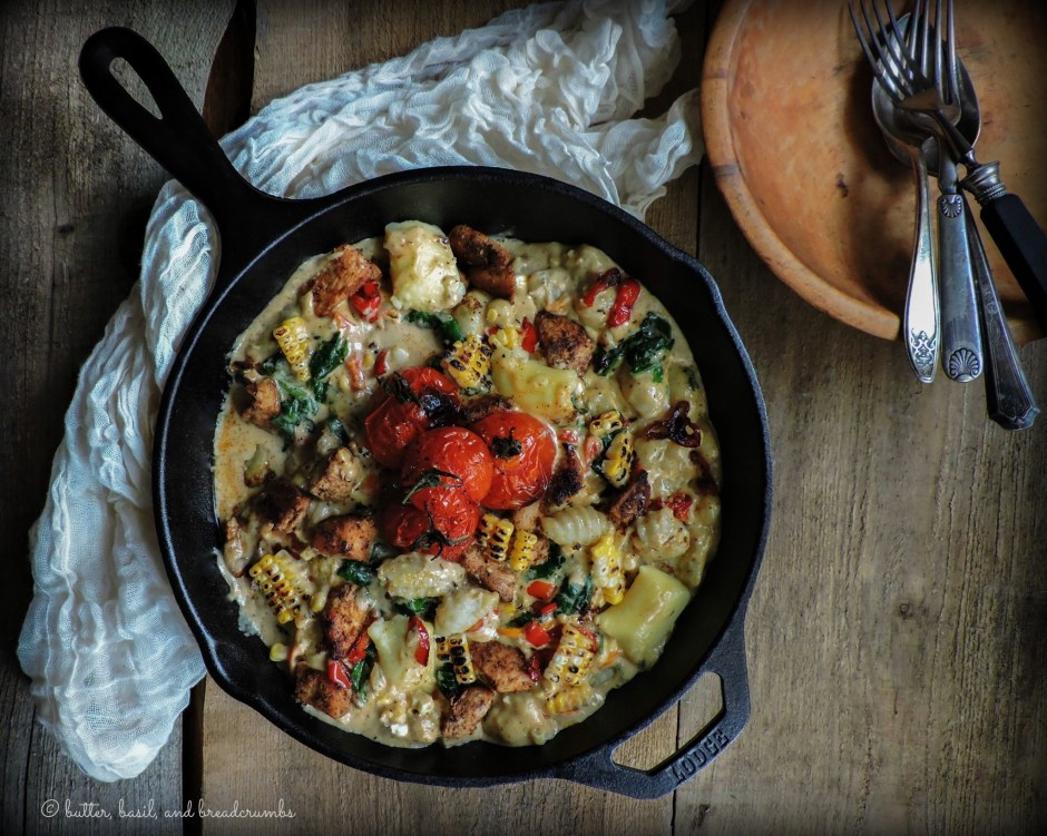 Cajun Chicken and Gnocchi with Summer Vegetables