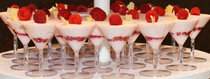 Raspberry mousse martinis