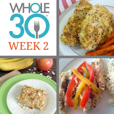 Whole 30 Week 2 meal plan