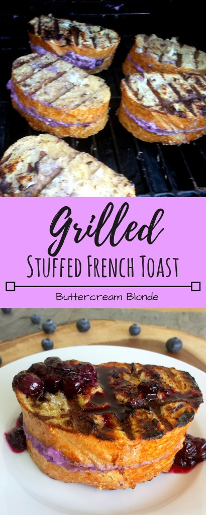 Grilled Stuffed French Toast with Berry Compote