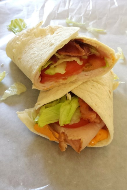 Spicy BLT Turkey Wrap