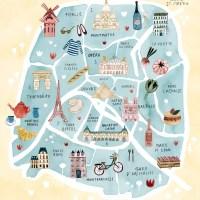 Карта Парижа с must visit местами