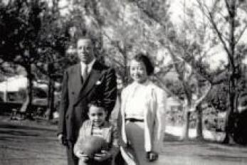 Congressman Butterfield as a young boy with his parents